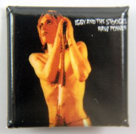 Iggy & the Stooges - 'Raw Power' Square Badge